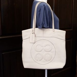 Coach Light Cream Leather Tote